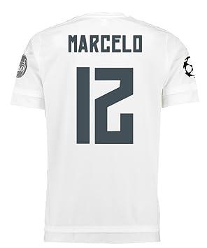 Adidas MARCELO #12 Real Madrid UEFA Camiseta 1ra Champions League Juventud 2015/2016 (YXL): Amazon.es: Deportes y aire libre