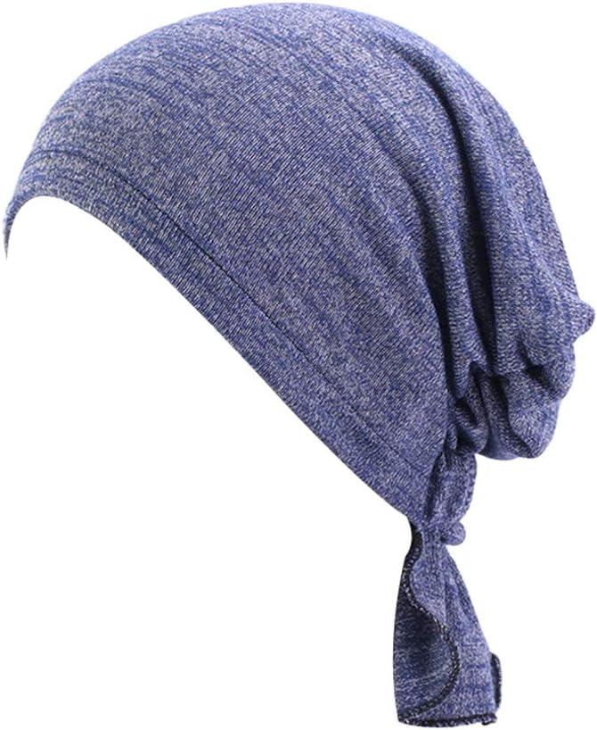 TININNA Damen Muslim Kopftuch Baumwolle Turbanm/ütze Elastische Turban Hut Chemotherapie Krebs Chemo Kappe Kopfbedeckung f/ür Haarausfall
