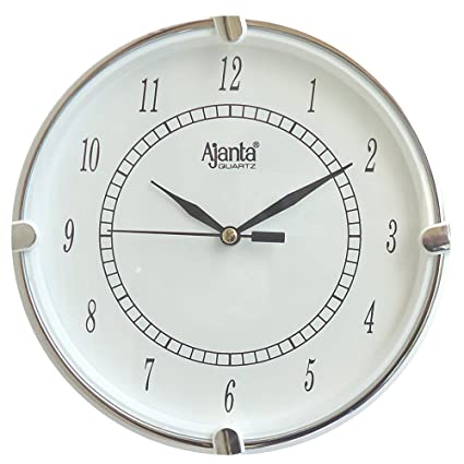 wall clock for office. Ajanta Fancy Analog Wall Clock Small Size For Home And Office Round White