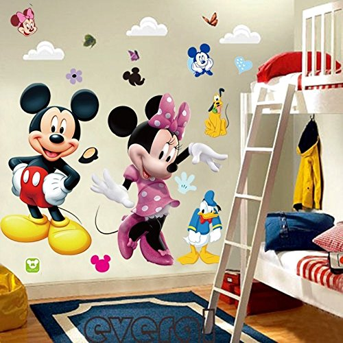 Mickey-Mouse-Minnie-Vinyl-Wall-Decals-Sticker-Kids-Nursery-Room-Decor-Mural-DIY