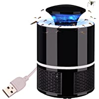 USB Mosquito Trap Light Insect Fly Lamp Bug Zapper Anti Mosquito Killer Catcher for Home Kitchen Bedroom Garden Patio Yard Black