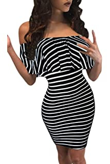 Chase Secret Womens Off Shoulder Ruffle Bodycon Mini Club Dress