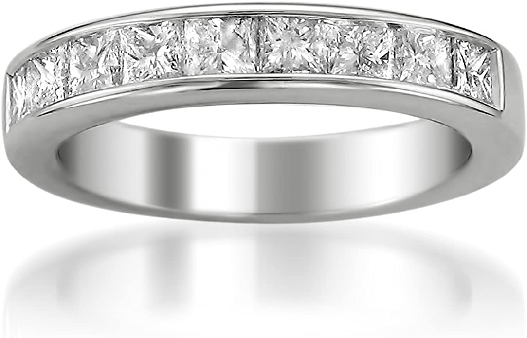 14k Yellow Gold Princess-cut 11-Stone Diamond Bridal Wedding Band Ring 1//2 cttw, J-K, SI1-SI2
