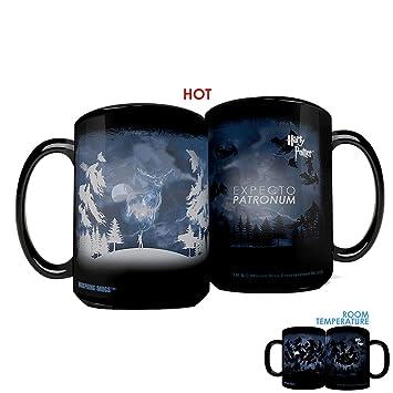 morphing mugs harry potter expecto patronum spell heat reveal clue ceramic coffee mug 15 ounces