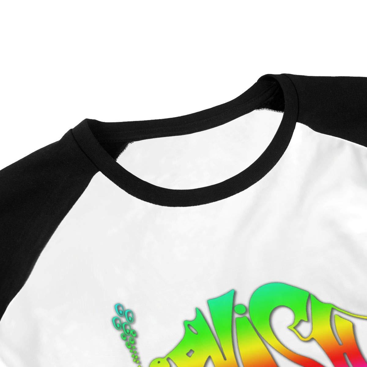 Phish Music Band Logo Toddler Baby Girls Boys Short Sleeve Shirts Raglan Shirt Baseball Tee Cotton T-Shirt