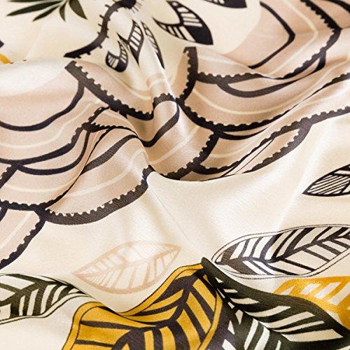 90 Coloré Anti Impression Souple Automne Aivtalk Classique Léger Foulard Jaune Floral Soie Vent Élégant Femme 175 Cm Châle Fibre Satin Plage 86A6qUw