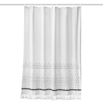 Nordic Tassel Shower Curtain Waterproof And Mildewproof Bathroom Partition National Wind Polyester Cloth