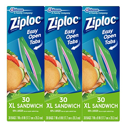 3-Pack Ziploc Sandwich Bags XL 30 Ct Now $3.84 (Was $8.97)