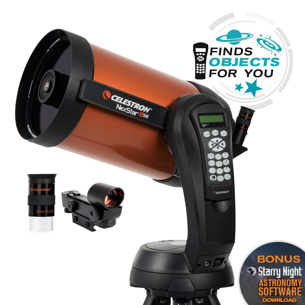 Celestron - NexStar 8SE Telescope - Computerized Telescope for Beginners and Advanced Users - Fully-Automated GoTo Mount - SkyAlign Technology - 40,000+ Celestial Objects - 8-Inch Primary Mirror by Celestron