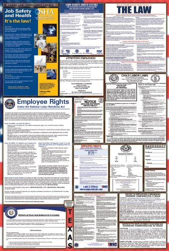 Texas / Federal Combination Labor Law Posters w/ NLRA