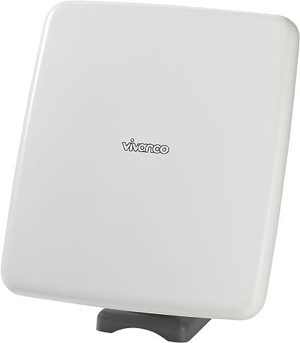 Vivanco TVA 501 Mono - Antena (Blanco, Mono, 48 dBi, DAB, 8,5 m)