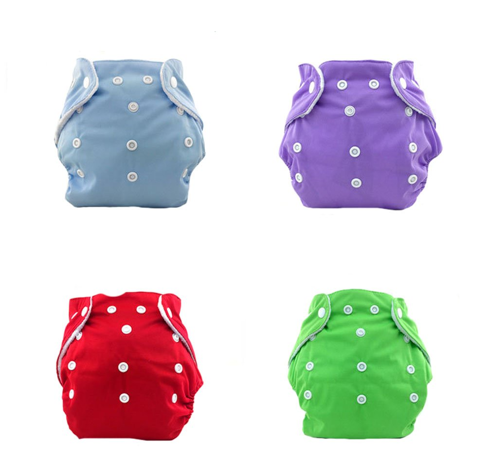 DREAMY Baby Washable Reusable Cloth Diapers Breathable Adjustable 4 Pieces Pack Pocket Confortable Cloth Diaper