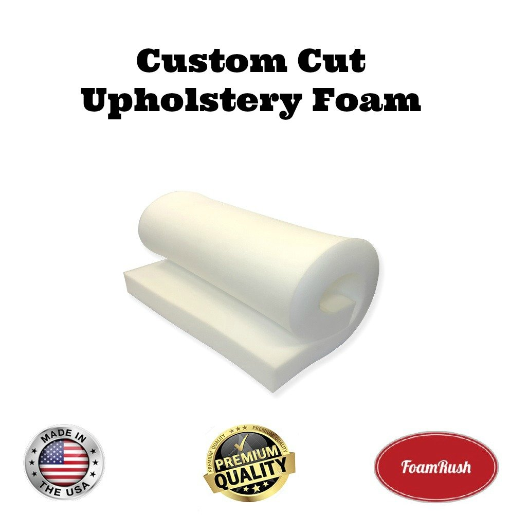 FoamRush 6' x 24' x 27' Upholstery Foam High Density Firm Foam Soft Support (Chair Cushion Square Foam for Dinning Chairs, Wheelchair Seat Cushion Replacement) FM-062427hd
