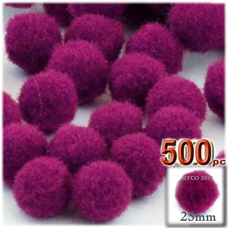 The Crafts Outlet 500 pompones multiusos, acrílico, 25 mm ...