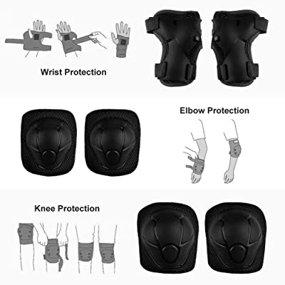 6pcs Adult Scooter Cycling Sports Safety Set Protective Kneepad for Rinding UK
