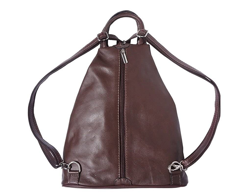 Genuine Italian leather convertible rucksack crossbody grab handbag backpack