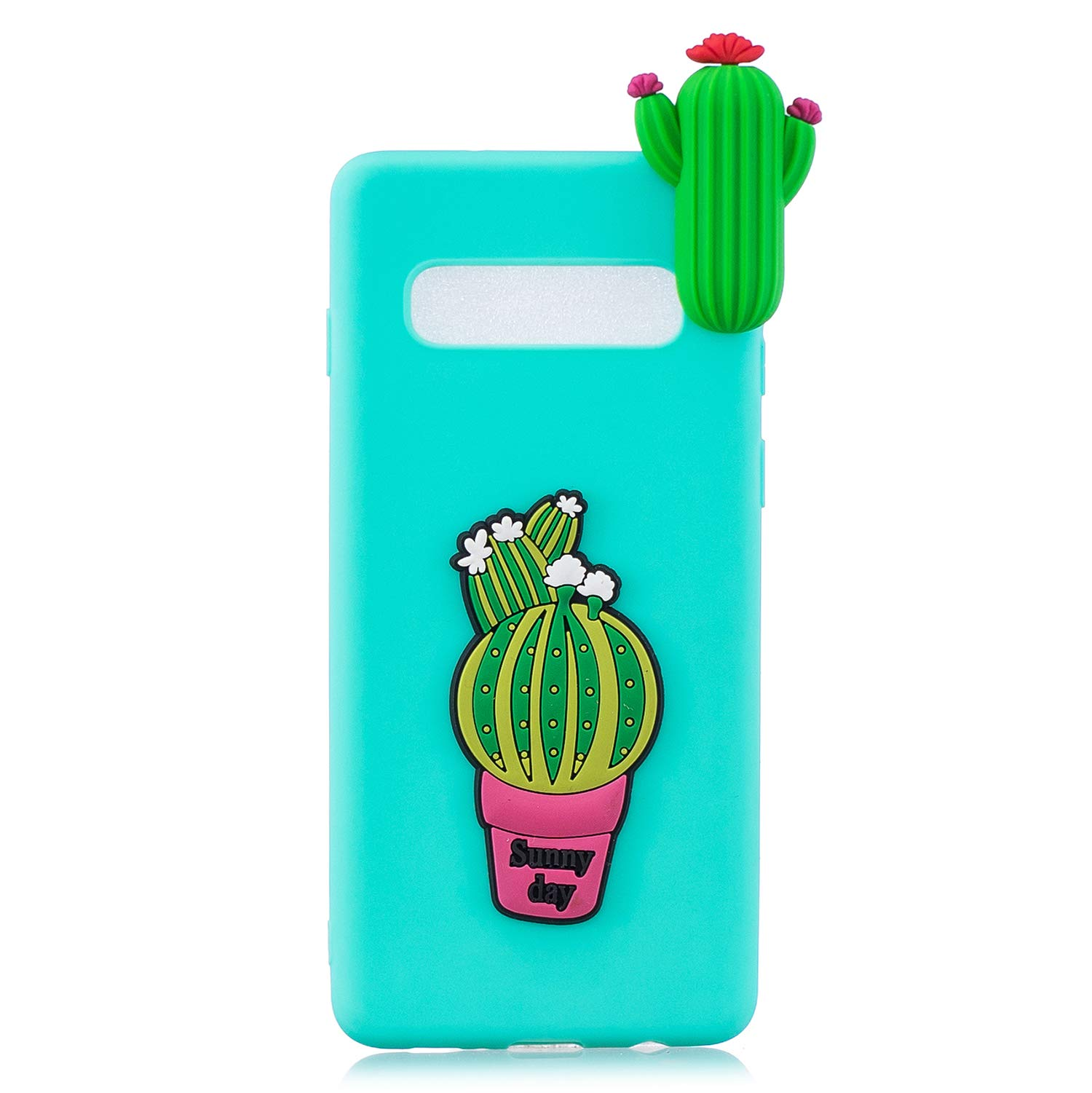 TPU Case for Samsung Galaxy S10,Moiky Funny 3D Cactus Design Ultra Thin Soft Silicone Resistant Back Cover Phone Case Unique Style Protect Case by MOIKY (Image #3)