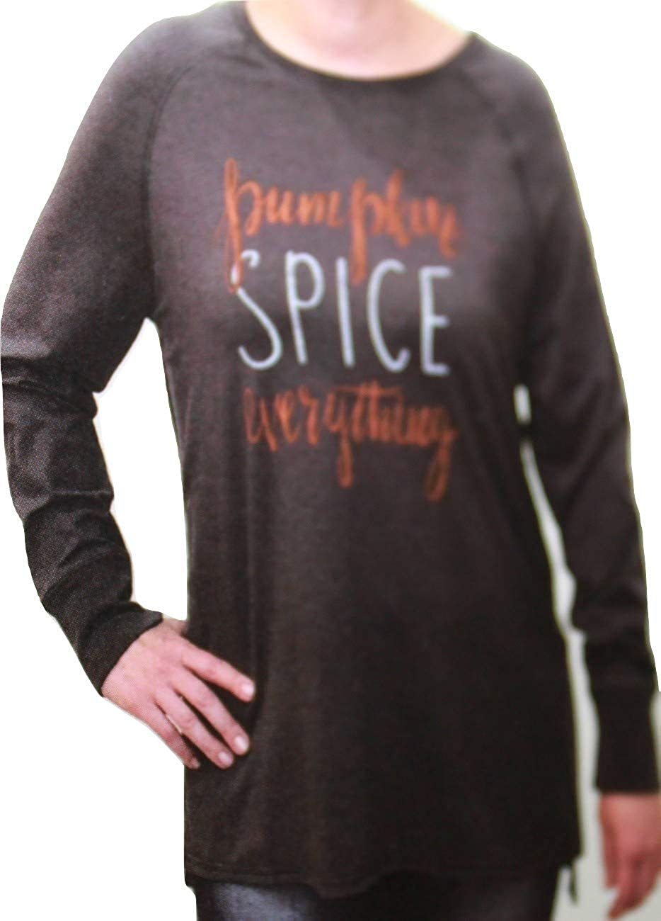 State of Mind Long Sleeve Top Pumpkin Spice Everything Smoked Pearl Size Large