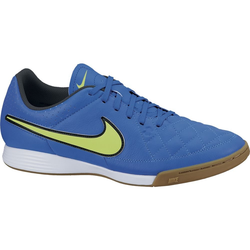 b439790ae Amazon.com | Nike Tiempo Genio Leather IC Indoor Soccer Shoes (7.5) Blue |  Soccer