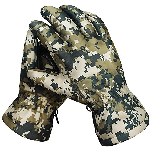 Warm Tactical Gloves - Camo Insulated Gloves - Winter Waterproof Tactical Gloves Camouflage Warm Sports Ski Gloves - 001 (Waterproof Camo Gloves)