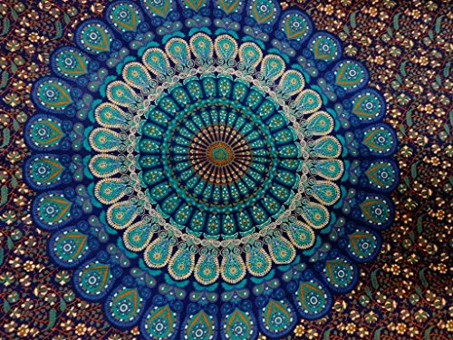 Indian Mandala Wall Hanging Tapestry, Hippie Hippy Tapestries, Feather...
