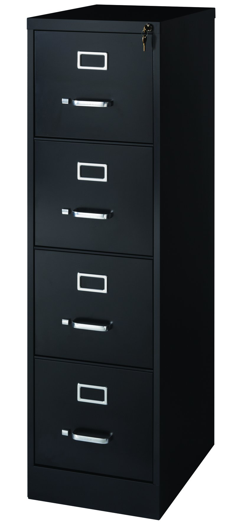 Office Dimensions Commercial 4 Drawer Letter Width Vertical File Cabinet, 22'' Deep - Black by Office Dimensions