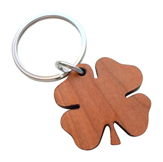 Amazon Wood Clover Keychain Lucky To Have You 5 Year
