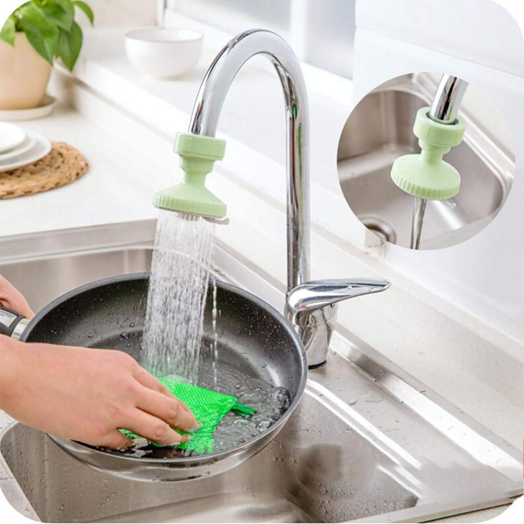 Tpingfe Kitchen Faucet Bath Shower Anti Splash Filter Tap Water-Saving Device Head (Green)