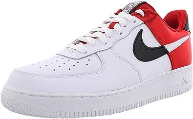 Zapatillas Nike Air Force 1 07 LV8 Blanco/Rojo Hombre 42 Blanco: Amazon.es: Zapatos y complementos