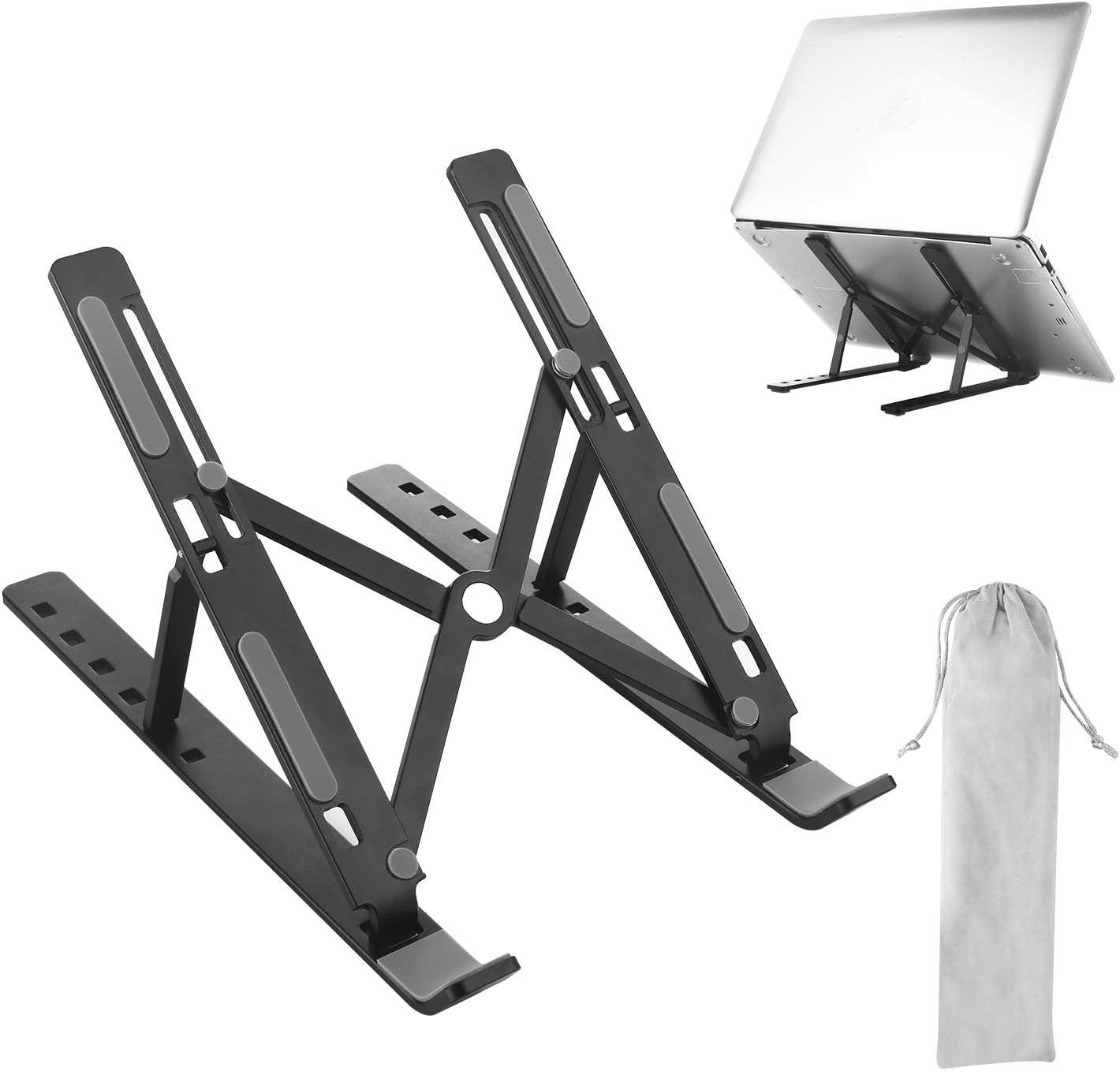 Laptop Stand Pliable Ventil/é en Aluminium R/églable SHYOSUCCE Support de Ordinateur Portable Support PC Ergonomique