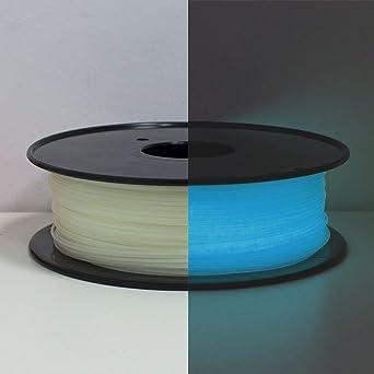 Filamento PLA 1,75 mm, Glows azul en la oscuridad, filamento para ...