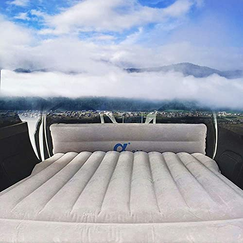 EVFIT Car Air Bed Pump Travel Inflatable Mattress Back Seat Portable Beds for Adults Camping with 2 Air Pillows Compatible Tesla Model S Model 3 and Model X 5 Seat