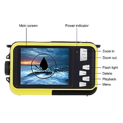 Amazon.com : Underwater Camera Snorkelling 24.0 MP Waterproof Digital Camera Float Full HD 1080P Dual Screen Waterproof Action Camera : Camera & Photo
