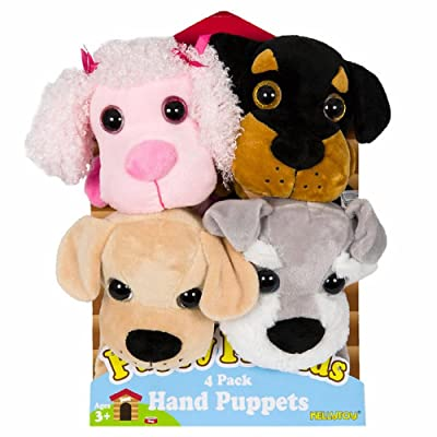 Puppy Friends Hand Puppets 4-pack Puppies: Toys & Games