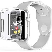 Babacom Cover per Apple Watch Serie 4, iWatch 40mm Custodia Protettore Schermo [Protettivo Tutto Intorno] [Chiarissimo] Morbido TPU Paraurti Pellicola Protettiva Case per Apple Watch 4 (2018) (Chiaro)