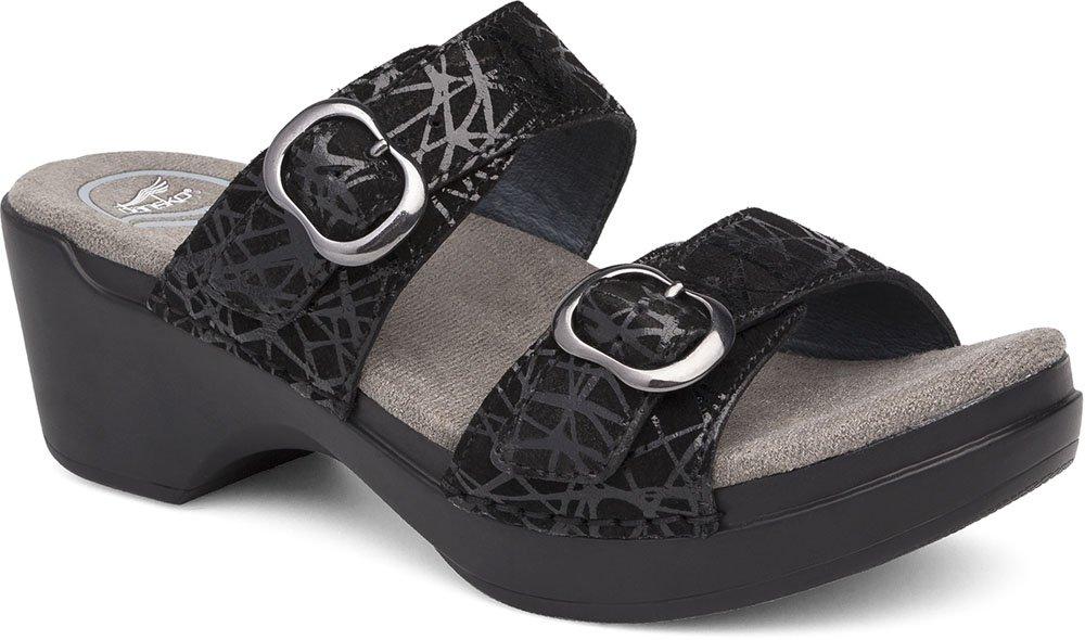 Dansko Womens Sandals Sophie Black Drizzle, Size-36