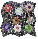 Susan Jablon Mosaics - Flower Power in Black Mosaic Tile Design