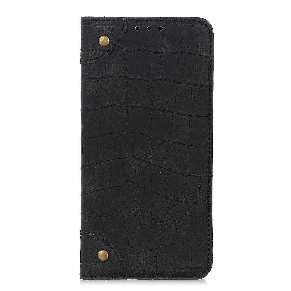 The Grafu Case for Samsung Galaxy A60, Galaxy A60 Anti Scratch PU Leather and Shockproof TPU Backcover with Magnetic Closure, Crocodile Pattern, Black by The Grafu