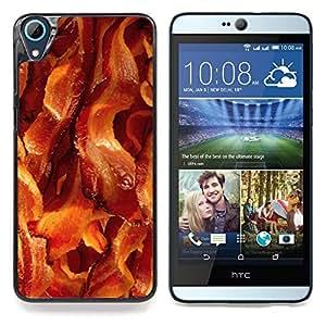 """Cerdo Tocino Carne crujiente de Brown Alimentos"""" - Metal de aluminio y de plástico duro Caja del teléfono - Negro - HTC Desire 626 626w 626d 626g 626G dual sim"""