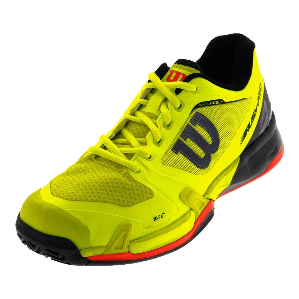[ウイルソン] テニスシューズ WRS322630U090 メンズ B0737LFKDF Safety Yellow/Black/Fiery Coral 12.5 D(M) US