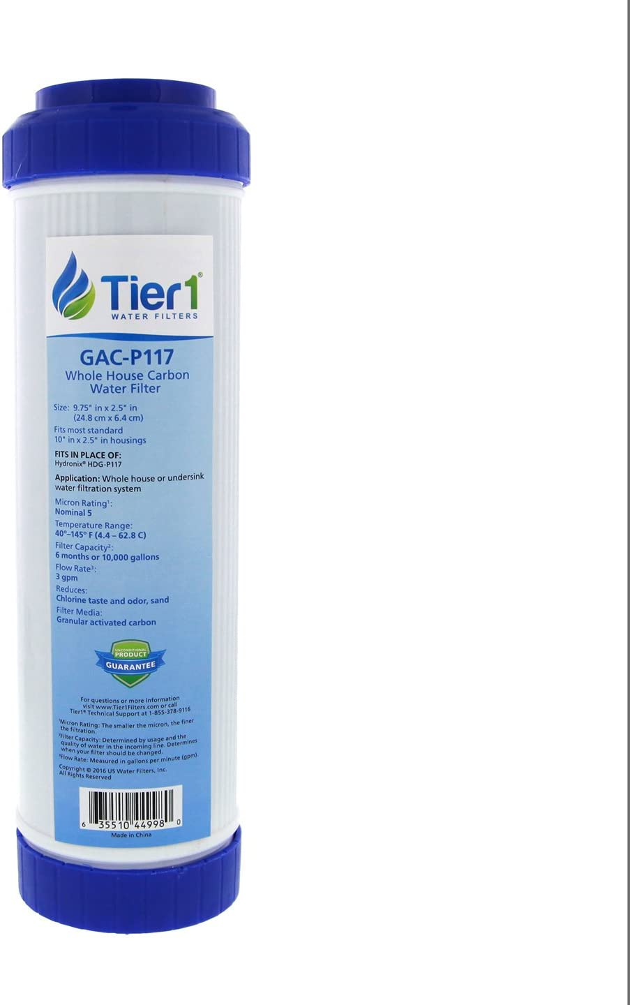 Tier 1 5 Micron For AP117 10-Inch GAC Filter