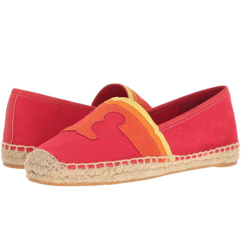 Tory Burch Espadrilles Shoes Laguna Flat Canvas (8, Nantucket Red Multi)