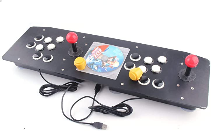 Tellaboull for Diseño ergonómico Doble Arcade Stick Juego de Video Palanca de Mando Controlador Gamepad para Windows PC Disfrute del Juego Divertido: Amazon.es: Hogar