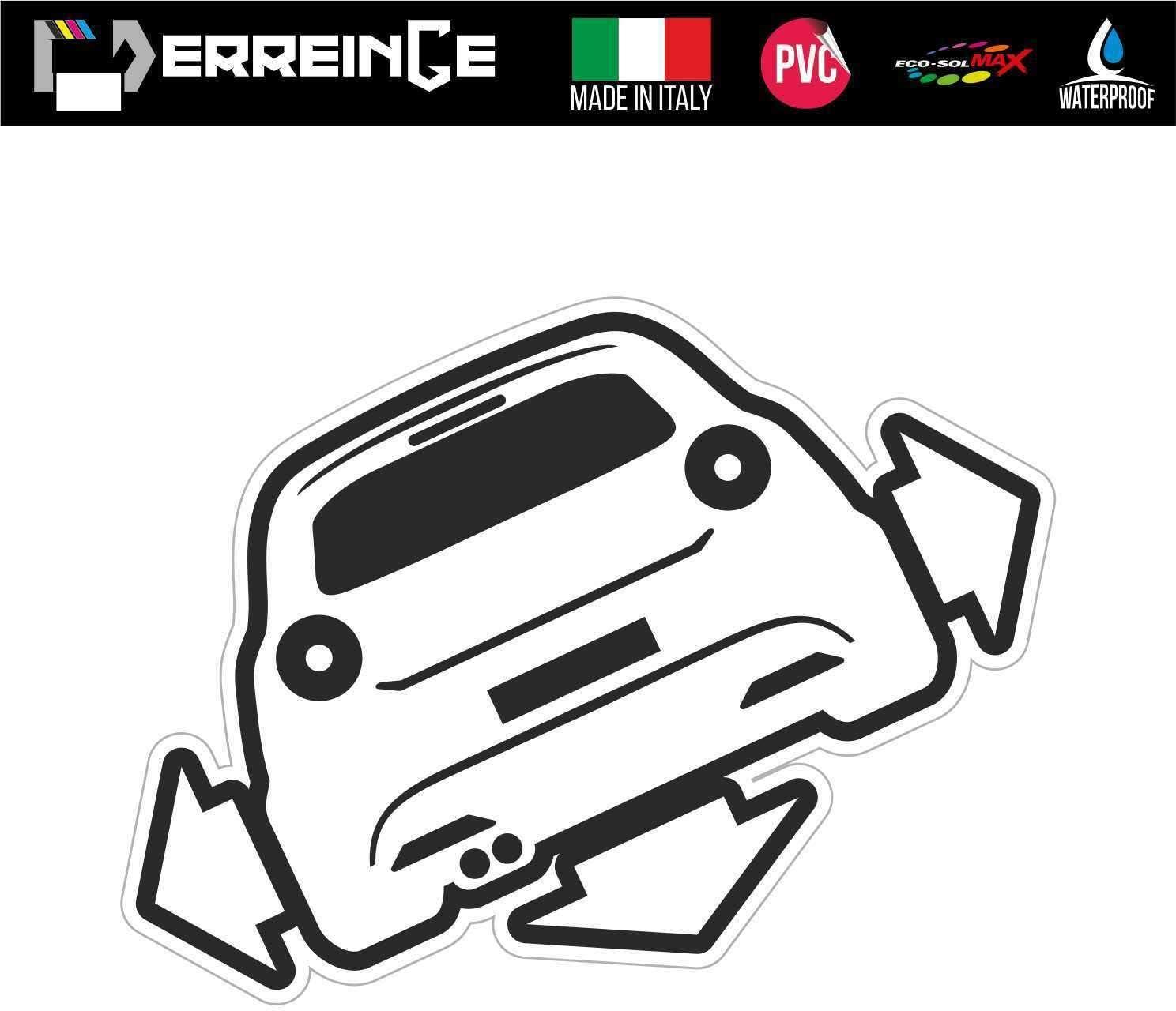 Galuisi Adesivo Sticker Alfa Romeo Scritta Auto Logo Rosso, Small 10 * 2 cm