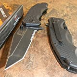 New MTech Xtreme Black G10 Tactical TANTO Spring Assisted Serrated Pocket Eco'Gift LIMITED EDITION Knife with Sharp Blade Great For Fun and Practical Use!
