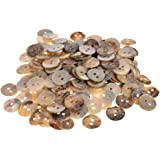 Mibo Agoya Shell Craft and Sewing 2-Hole Buttons - 24 Line Natural