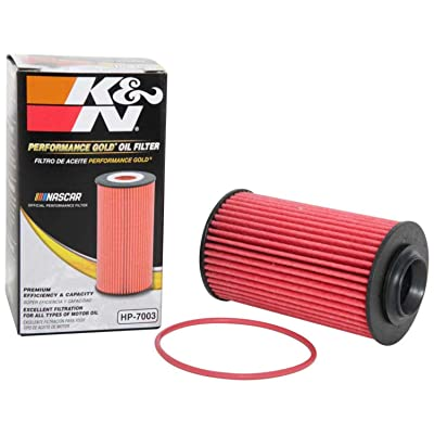 K&N Premium Oil Filter: Designed to Protect your Engine: Fits Select CHEVROLET/OLDSMOBILE/CADILLAC/SAAB Vehicle Models (See Product Description for Full List of Compatible Vehicles), HP-7003: Automotive