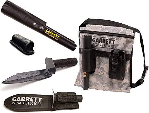 Garrett Pro-Pointer II, Edge Digger with Sheath and Camo Finds Pouch Combo