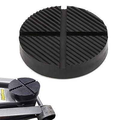 GeeWatom Universal Floor Jack Rubber Pad Jack Pad Adapter Pinch Weld Side Frame Rail Protector Puck/Pad (1 Pack): Automotive
