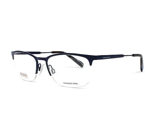 209b0572424 Amazon.com  Hugo Boss frame (BO-0308 RCT) Metal Matt Blue - Blue ...
